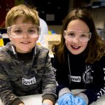 Students glowing after science workshop