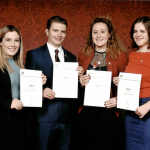 Camborne students meet Phillip Schofield and Prince Edward as they collect their DoE Awards